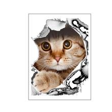 21 * 29 CM Fashion Car Accessories 3D Stereo Anime Funny Creative Personality Kitten Simulation Styling