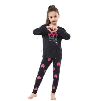 100 Cotton Boys and Girls Long Sleeve Pajamas Sets Children's Sleepwear Kids Christmas Pijamas Infantil Homewear Nightwear - P026, 4