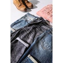 سيموود 2020 جديد الجينز الرجال الكلاسيكية جان جودة عالية مستقيم الساق الذكور سراويل تقليدية حجم كبير القطن سراويل جينز 180348