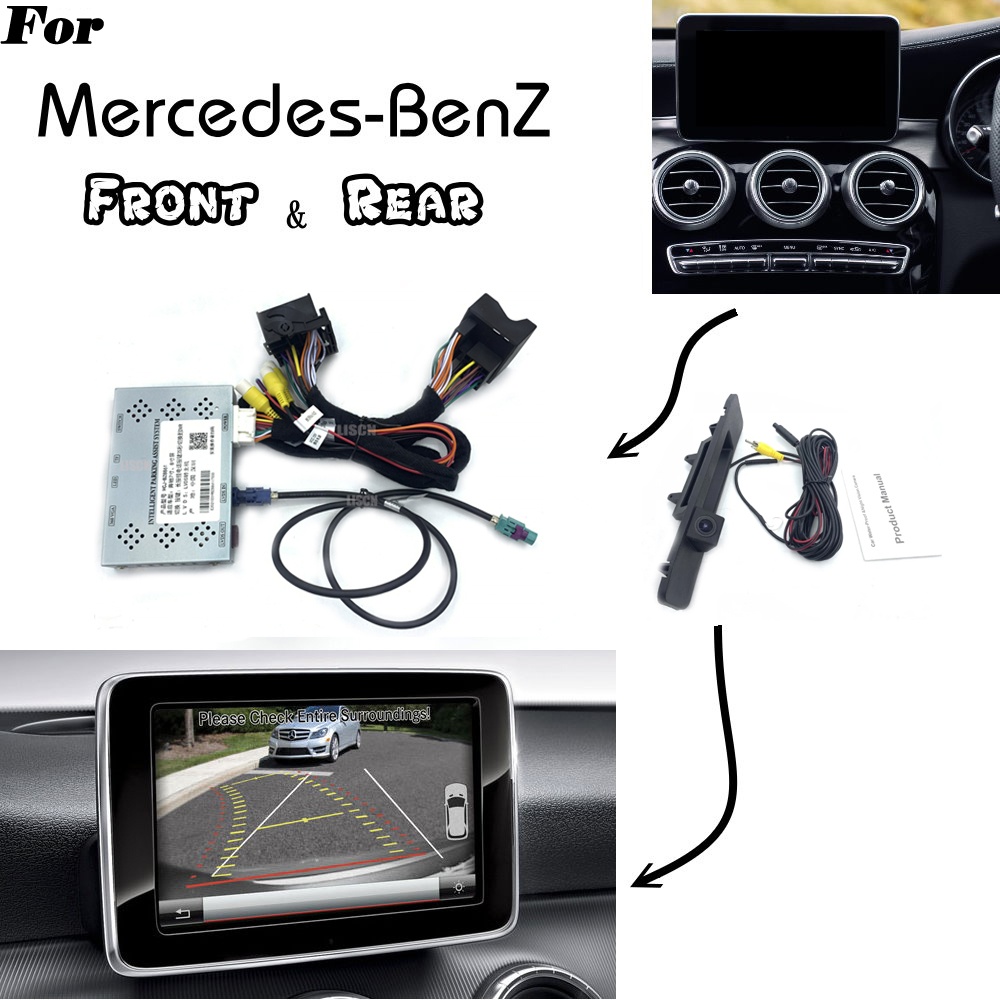 Декодер парковки для Mercedes Benz, декодер для передней и задней камеры, с оригинальным интерфейсом дисплея, класс A, B, C, E, M, S, ML, CLA, CLS, GLA, GLK