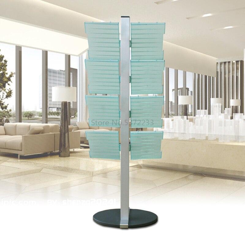 Multi-storey Landing Bookshelf, Vertical Creative Magazine Shelf, Brochure Shelf, Simple Display Shelf, Bookshelf And Newspaper