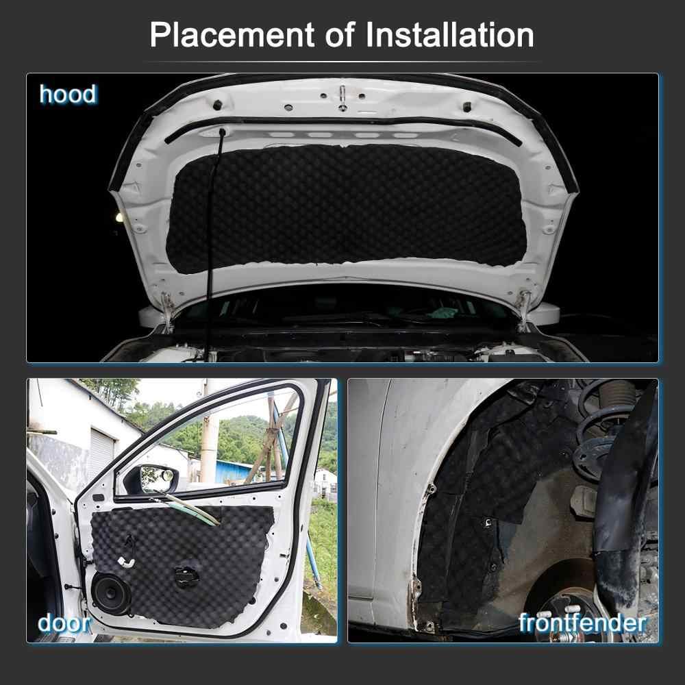 UXCELL 50*100/200/300/500CM mieszanki bawełny wnętrza dźwięk studyjny absorpcji akustycznej samochodów pianka dźwiękochłonna Deadener mata izolacyjna
