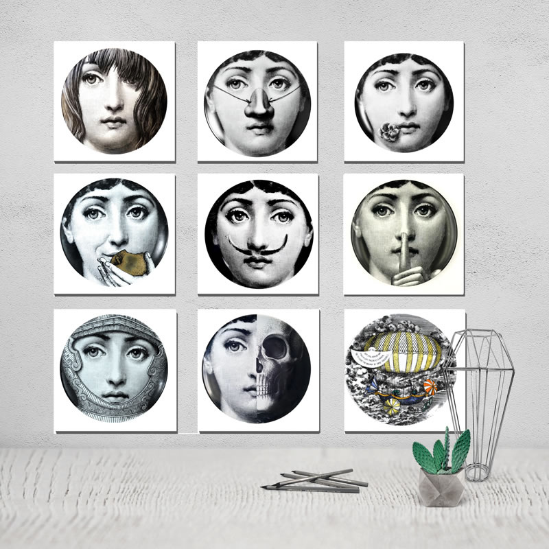 Fornasetti Canvas Painting Poster The Triptych Paintings On The Wall The Triptych Obrazy Thomas Kinkade Prints Art Prints Obrazy