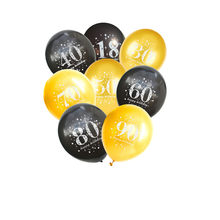 Zwarte Goud Verjaardag Ballonnen 16 18 20 21 30 40 50 60th Verjaardag Ballon 21st Meisje Vrouwen Gelukkige Verjaardag Banner party Decoraties