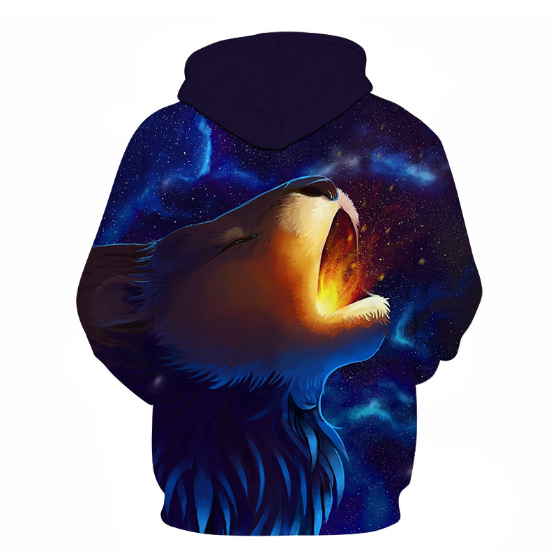 Wolf Printed Women 3d Hoodies Brand Sweatshirts Girl Boy Jackets Pullover Fashion Tracksuits Animal Streetwear Lovers Sweatshirt 76