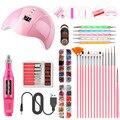 Acryl Nail Art Brush Set Uv Gel Nagellak Schilderij Tekening Borstels Puntjes Pen Kit Manicure Clean Brush Tool