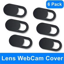 Webcam kapağı panjur mıknatıs Slider plastik evrensel kamera kılıfı için Web dizüstü iPad PC Macbook Tablet gizlilik Sticker Antipeep(China)