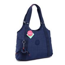 Original designer monkey Keychain Nylon handbag women tote brand ladies hand