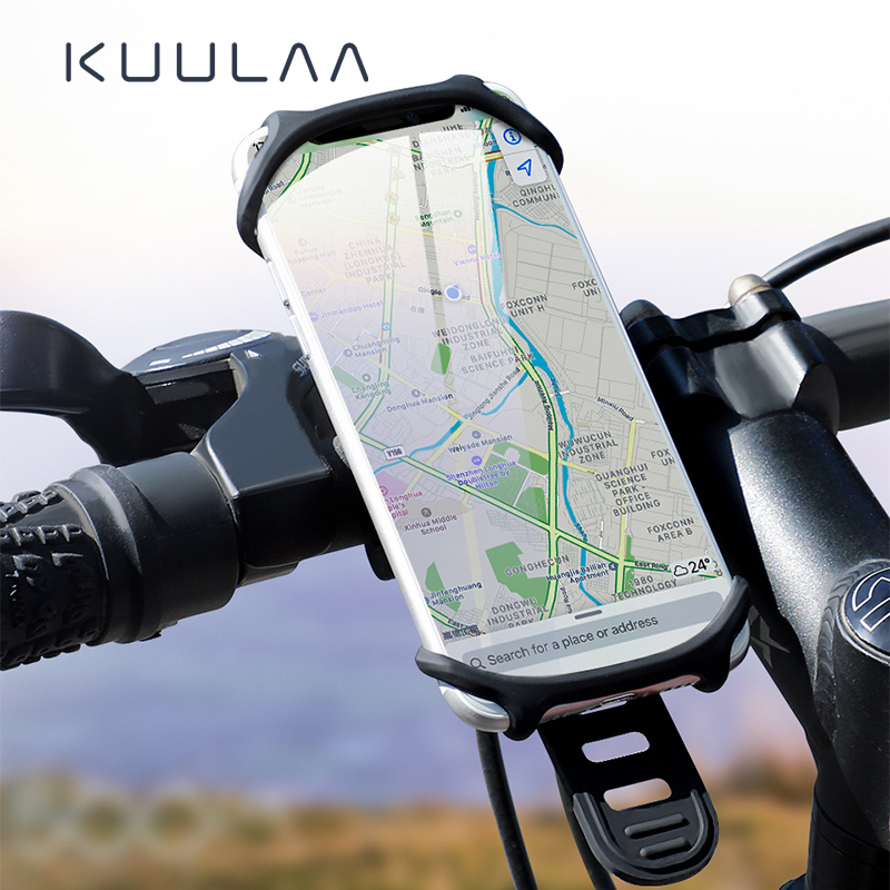 KUULAA Bicycle Phone Holder For IPhone Samsung Universal Mobile Cell Phone Holder Bike Handlebar Clip Stand GPS Mount Bracket