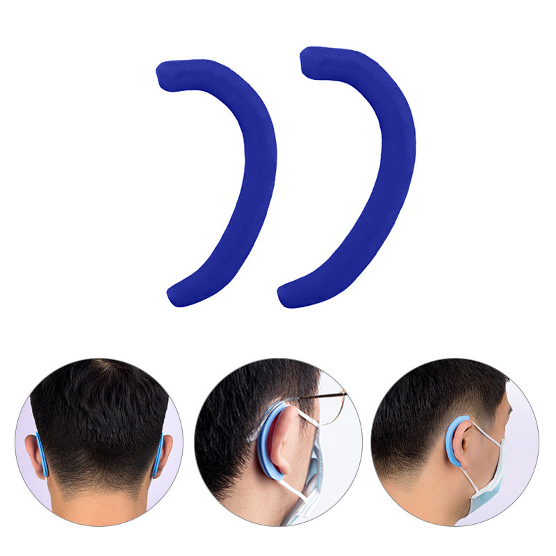 Silicone Anti Pain Earmuffs Protector Soft Protective Ears Mask Rope Cover Band Cover Mask Accessories 1Pair=2PCS