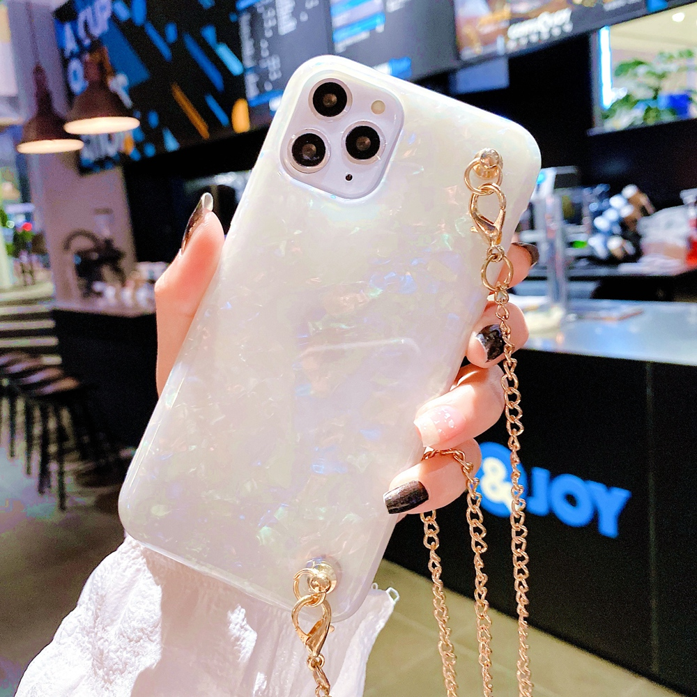 simple marble Crossbody chain phone <font><b>case</b></font> for <font><b>samsung</b></font> galaxy S20 ultra S8 S9 S10 s20 Plus <font><b>note8</b></font> note9 note10 pro cover 11pro max image