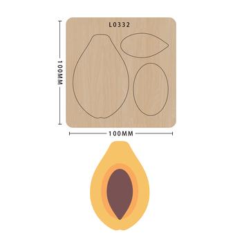 SMVAUON nowe matryce do 2020 r Drewniany szablon do wycinania owoców seria Scrapbook Die Cut DIY Handmade tanie i dobre opinie fruit Laser mold