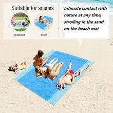Camping Magic Beach Mat Outdoor Travel Magic Sand Free Mat Beach Picnic Waterproof Mattress Blanket Foldable Sandless Beach Mat