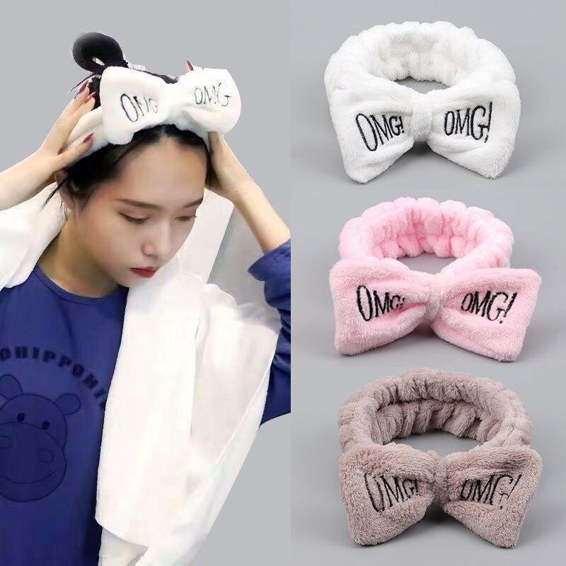 OMG elastic hair band girl cute hair accessories female makeup mask hair band fashion face wash head band hair band holiday gift