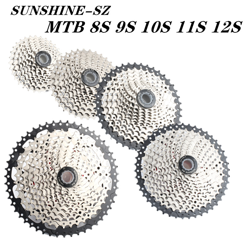 Free shipping bicycle MTB <font><b>cassette</b></font> 8S 9S 10s 11S 12s 30s speed <font><b>36</b></font>/42/46/50T freewheel width ratio mountain bike bicycle flywheel image