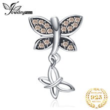 JewelryPalace Butterfly 925 Sterling Silver Beads Charms Original For Bracelet original Jewelry Making