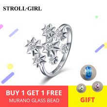 StrollGirl 925 sterling silver cubic zirconia star ring opening adjustable Wedding rings for Women fashion Jewelry gift 2019 new стоимость