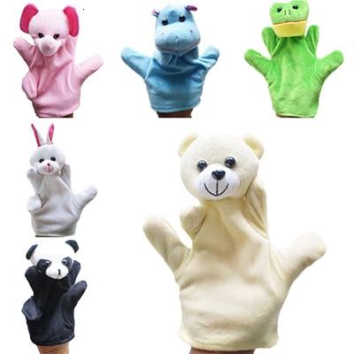 10pc cartoon dier fluwelen finger puppet finger speelgoed vinger pop baby doek onderwijs handgemaakte baby speelgoed baby gift bebe reborn