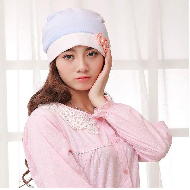 Flannel Confinement Cap Chan Whoo Mao Pregnant Women Cap Pregnant Women Warm Hat