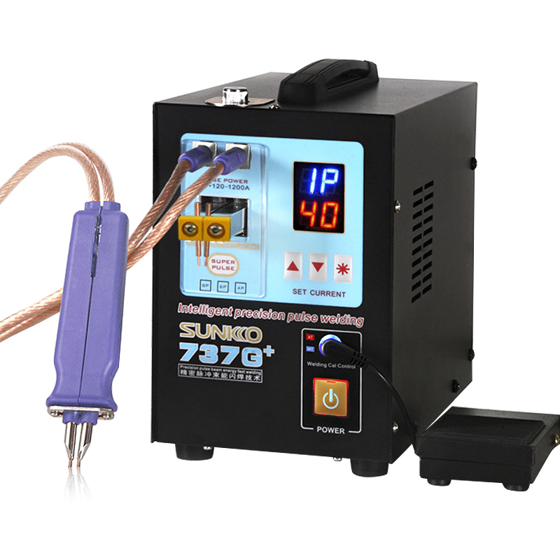 SUNKKO 737G New Upgraded Spot Welder 18650 Lithium Battery Contact Welding 4.3KW High Power Automatic Pulse Spot Welding Machine