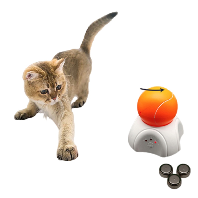 Pet Cats Toys Interactive Kitten Toy Funny LED Lasering Tennis Ball Automatic Rotating Puppy Exercise Toy Pet Cat Supplies