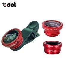 3 in 1 Wide Angle Macro Fisheye Lens Universal Camera Mobile