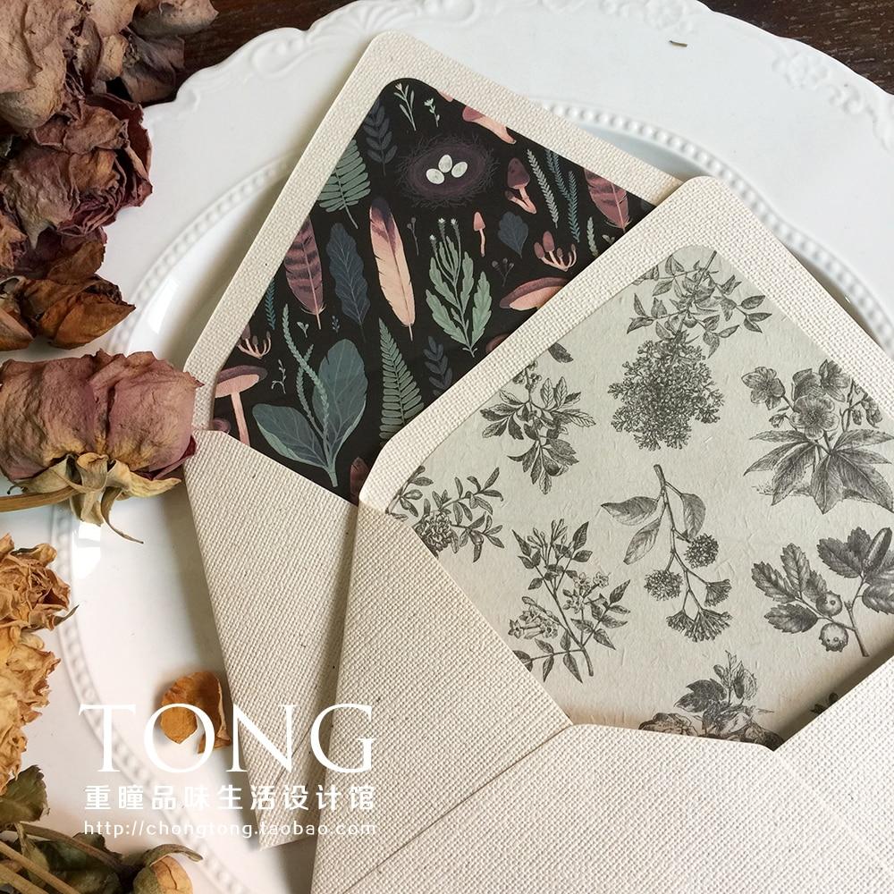 5pcs/lot Vintage Western Envelopes Wedding Invitations Printing Lining Envelopes Belly Band Invitation Stationary 4colors