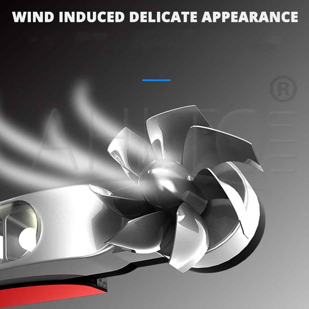 2x vento alimentado luzes diurnas do carro 8led rotação ventilador luz do dia sem necessidade de fonte de alimentação externa auto lâmpada decorativa led drl Promo Code: $35-5-DISC5