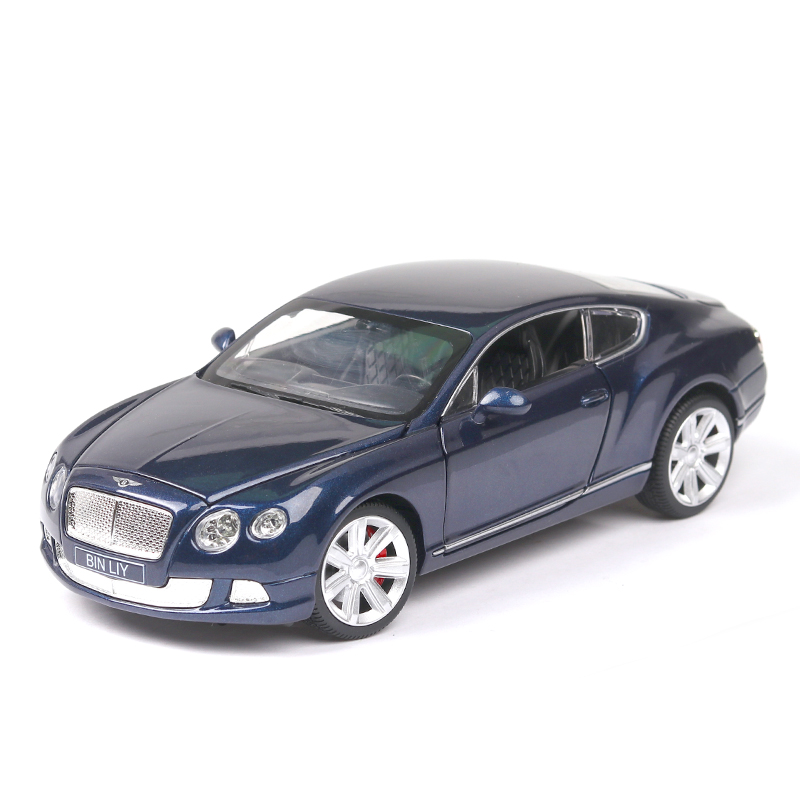 High End Diecast 1:24 Bentley GT W12 Mushang Linkage Wheel Metal Model Children's Cars Kids Toy Thomas And Friends Collectible