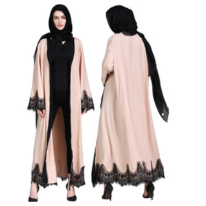 Open Abaya Kimono Dubai Kaftan Islam Muslim Hijab Dress Jilbab Abayas For Women Caftan Robe Turkish Islamic Clothing