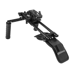 CAMVATE Shoulder Mount Kit With Manfrotto QR Plate & 15mm Railblocks Supporting System For DV Camcorder C2236