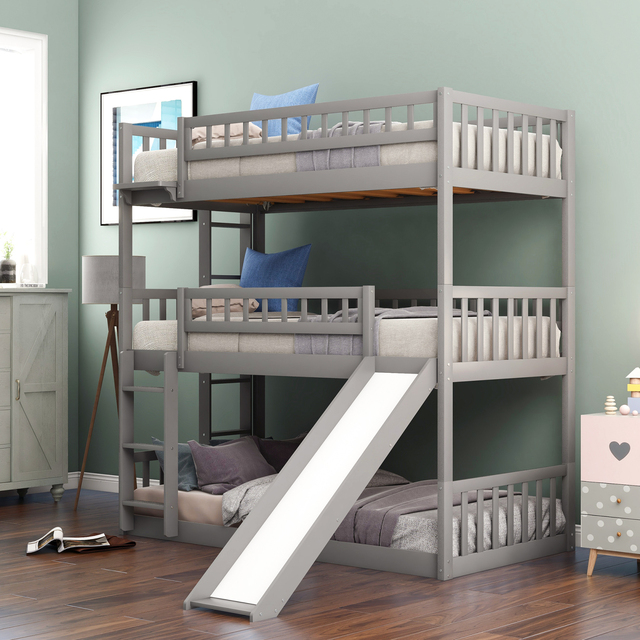 Triple Bunk Bed Twin-Over-Twin-Over-Twin  1