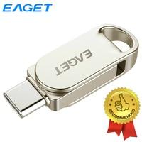 Eaget Mini Pendrive 128GB Type C USB Flash Drives 64GB OTG USB 3.0 Type C Pen Drive 32GB For Samsung Huawei Xiaomi Phones Tablet