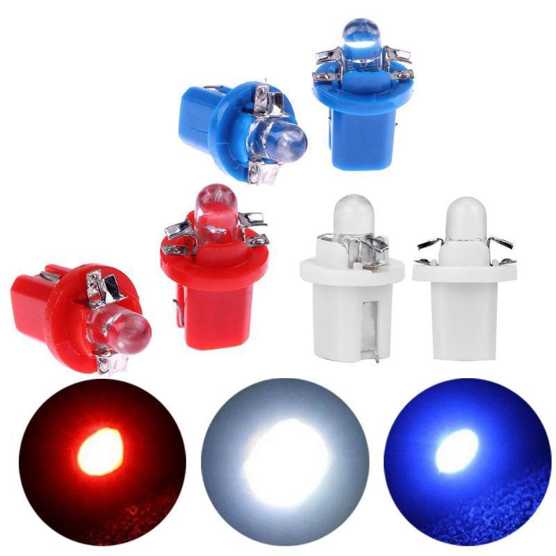 10 шт. T5 LED B8.5D 1SMD автомобильная светодиодная лампа для приборной панели спидометра приборной панели 12 В