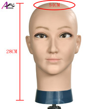 Male mannequi Wig Making Styling Practice Hairdressing Cosmetology Bald Mannequin Head Hat Head wear Display Make Up Tools(China)