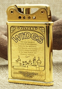 Desert Animals Brass Ddouble Sided Hand Carved Kerosene Lighter2
