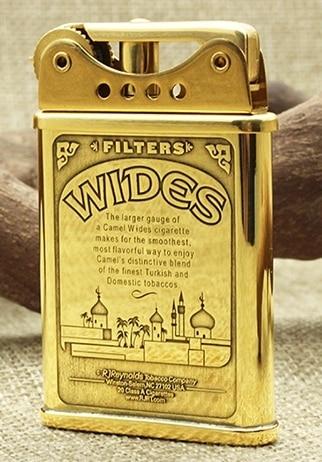 Desert Animals Brass Ddouble Sided Hand Carved Kerosene Lighter2