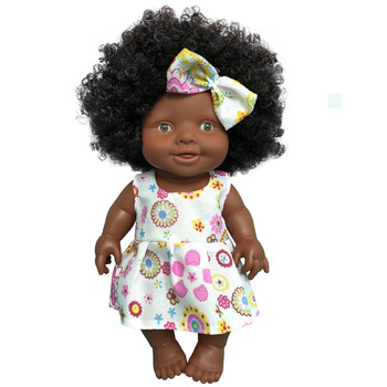 African Doll Movable Joint Toy Christmas Best Gift For Baby Girls Black Toy Mini Cute
