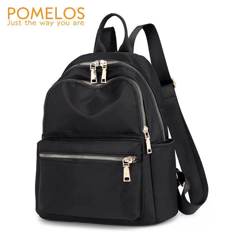 POMELOS 2020 Fashion New Backpack Women Solid Black Lightness Water-repellment Oxford Practical Backpack For Lady Travel Bag