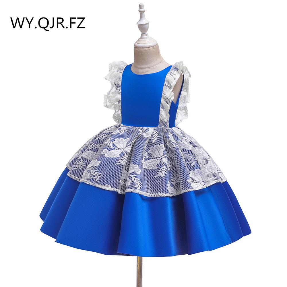 BH-755#Ball Gown Green Flower Girl Dresses Short Watermelon Red Dark Wine Christmas, Children's Day Costumes Party Prom Dress Lace