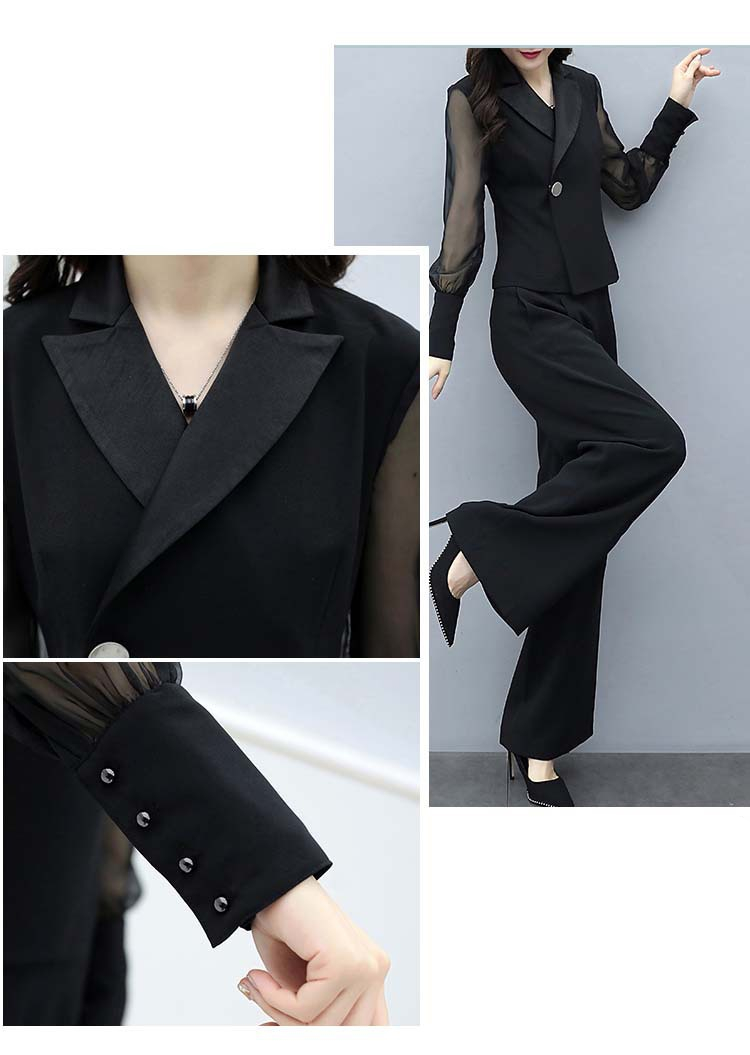 H5c7e0cf242424d829c9d4012b6289099j - Autumn Black Office Two Piece Sets Outfits Women Plus Size Long Sleeve Tops And Wide Leg Pants Korean Elegant Matching Suit