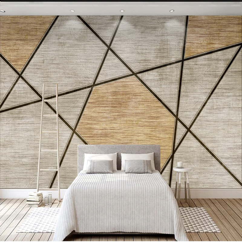 Custom Any Size Murals Wallpaper Chinese Creative Wood Grain Photo Wall Cloth Restaurant Cafe Background Wall Papel De Parede 3D