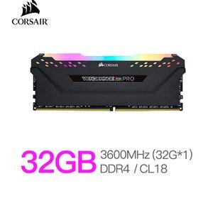 Corsair Vengeance RAM RGB Pro 32GB (1x32GB) DDR4 3600MHz (PC4-28800) C18 Desktop Memory-Black