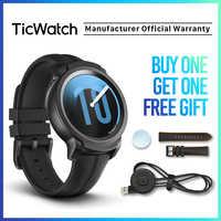 TicWatch E2 czarny inteligentny zegarek mężczyźni i kobiety Bluetooth zegarek gps Android/iOS kompatybilny 5ATM wodoodporny, długi Batterylife oryginalny