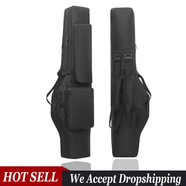 Tactical 120cm Double-Layer Gun Bag Military Waterproof Rifle Pouch Holster Airsoft Gun Padded Case Carry  Hunting Accessories 1