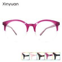 Cp018 xinyuan круглые розовые очки Классическая Прозрачная Круглая