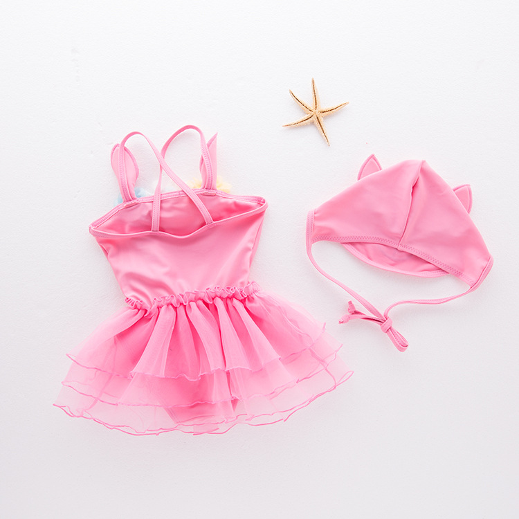 Girl'S One-piece Swimming Suit Little Bunny-Children Hot Springs Bathing Suit