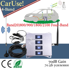 Car Use!! Band20)800 900 1800 2100mhz Four-Band Mobile Signal Booster
