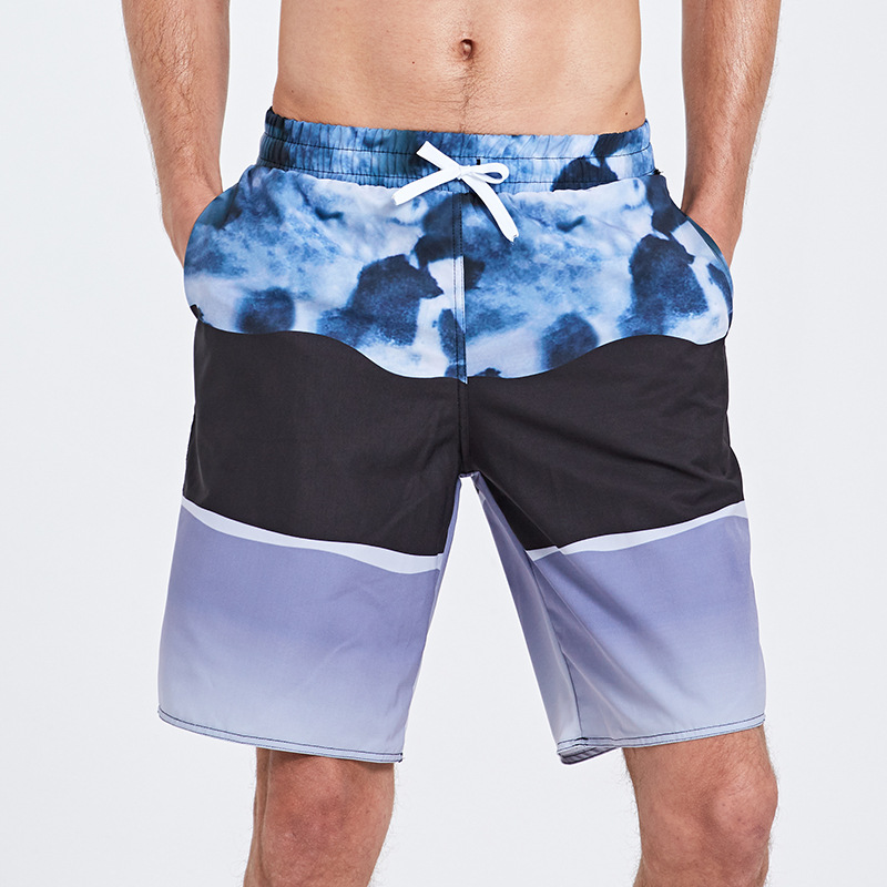 Sbart Beach Shorts Men's Quick-Dry Loose-Fit Shorts Casual Large Size Swimming Trunks Seaside Holiday Shorts