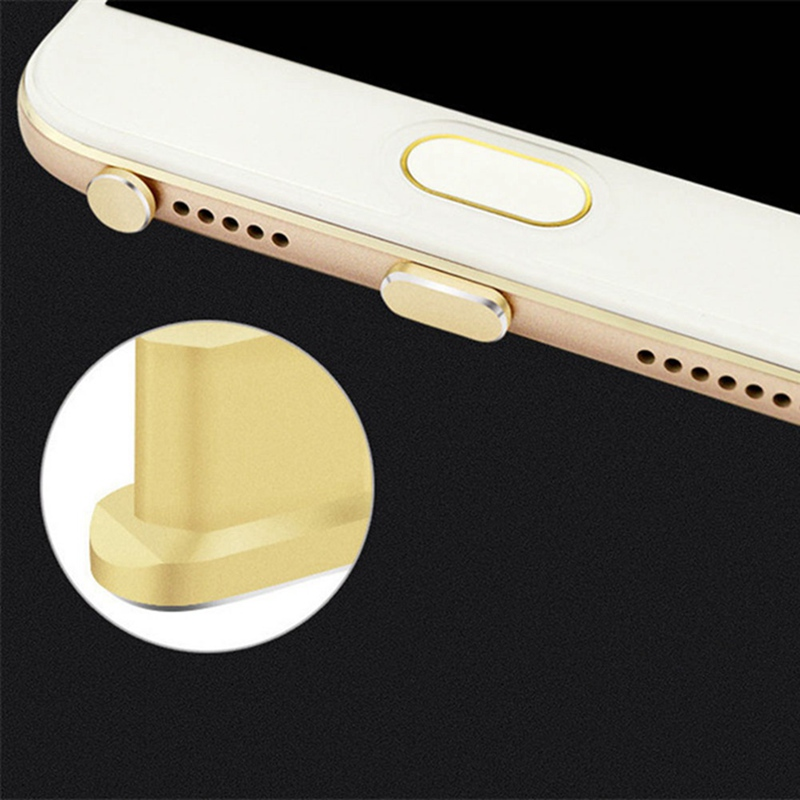 Phone Dust Plug Earphone Plug Card Pin USB Dust Plug Data Charging Port Aluminum Alloy Mobile Phone Accessories